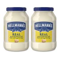 Hellmann's Real Mayonnaise For a Rich Creamy Condiment Real Mayo Gluten Free, Made With 100% Cage-Free Eggs 48 oz 2 count