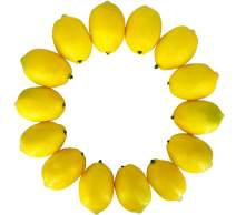 Dasksha Lifelike & Higher Quality Fake Lemons Set -14PCS - Real Looking Fake Fruits for Decoration
