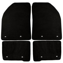 Coverking Front and Rear Floor Mats for Select Jaguar XF Models - 40 Oz Carpet (Black)