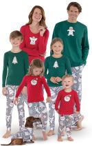 PajamaGram Color Me Christmas Cookies Cotton Jersey Matching Family Pajamas, Red