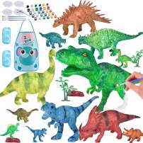 COSILY Dinosaur Painting Toys Kit Dinosaurs Toys Crafts and Arts Set for Kids Age 3 4 5 6 7 8 9 Years Old Boys Girls Creative DIY Paint Your Own Dinosaur Set