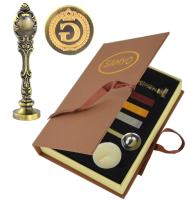 Samyo Creative Romantic Stamp Maker Classic Old-Fashioned Style Brass Color Wax Seal Sealing Stamp Vintage Antique Alphabet Initial Letter Set - (Letter G)
