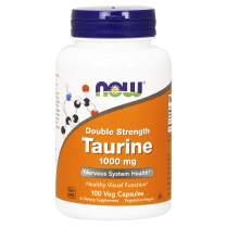 NOW Foods Taurine, Double Strength 1000 mg, 100 Veg Capsules