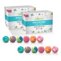 Sky Organics Large Bath Bombs Gift Set Assorted Scents Bath Bomb Kit Best for Moisturizing Relaxation Aromatherapy with Natural Essential Oils Sulfate Free Vegan Gluten Free, Made in USA, 12ct (2pack)
