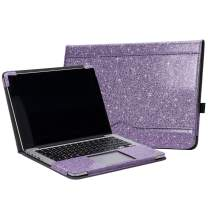 """TYTX MacBook Pro Leather Case 13 Inch 2016-2020 (A1989 A1706 A1708 A2159 A2289 A2251) Laptop Sleeve Protective Folio Book Cover(New MacBook Pro 13"""", Shining Purple)"""