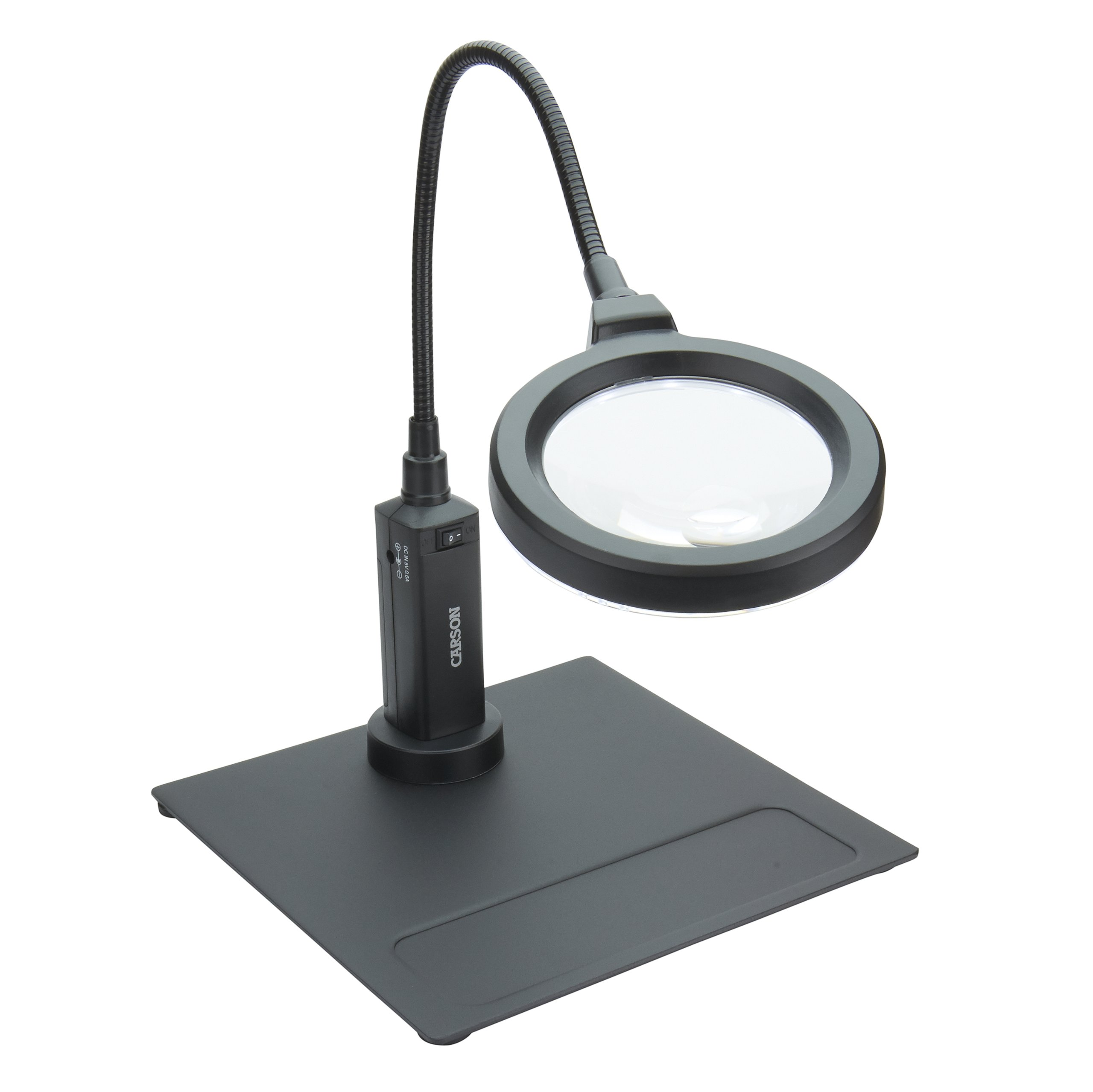 Carson MagniFlex Pro 2x LED Lighted Gooseneck Flexible Magnifier with 4x Spots Lens and Magnetic Base (CP-90)
