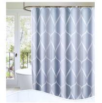 "S·Lattye Luxury Shower Curtain Liner Water Repellent Fabric Washable Cloth (Hotel Quality, Friendly, Heavy Weight Hem) - 72"" x 72"", Standard, Gray Ripple"