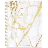 """2021-2022 Planner - Monthly Planner from Jan 2021 - Jun 2022 with Tabs & Pocket & Label, Contacts and Passwords, 8.8"""" x 11.2"""", Thick Paper, Twin-Wire Binding"""