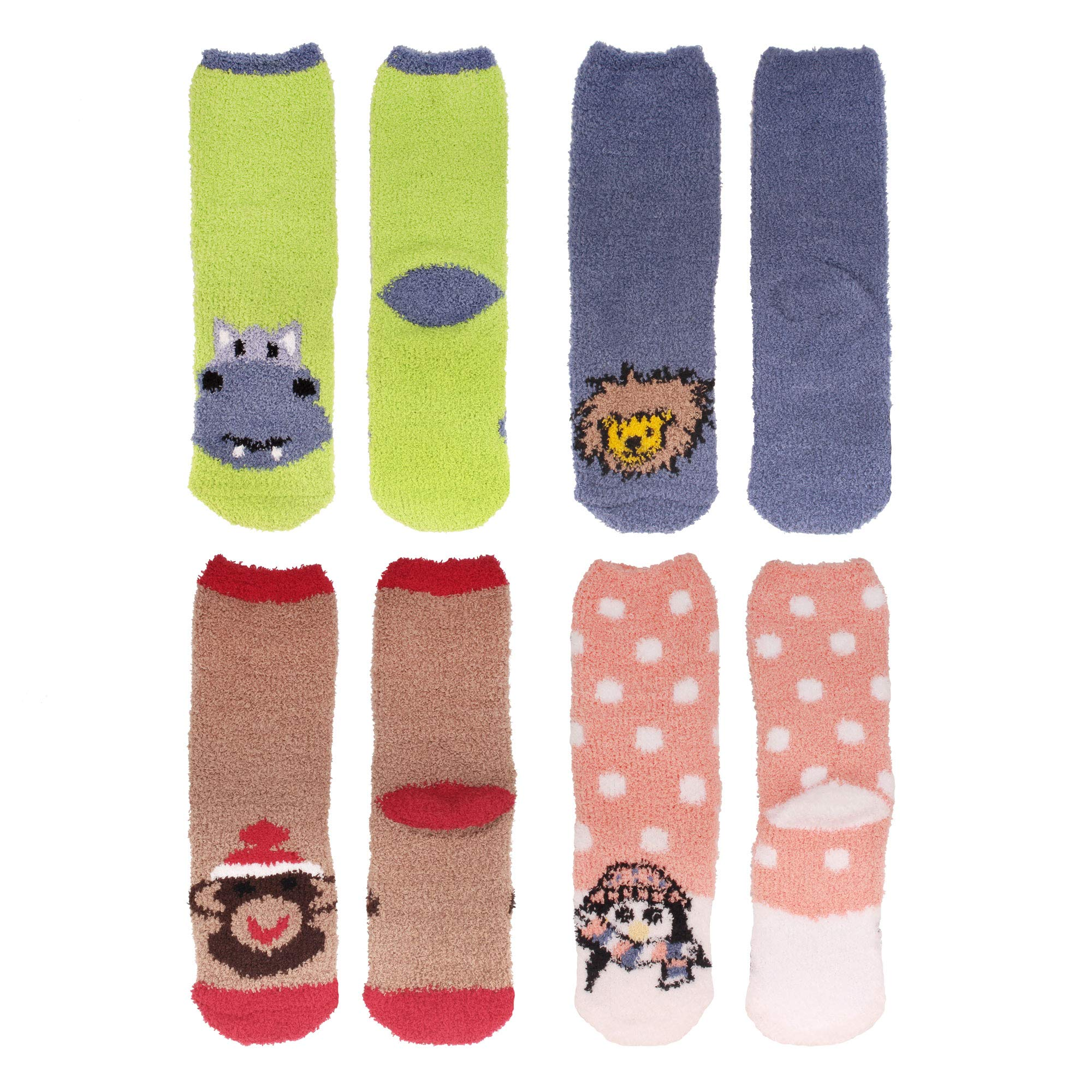 Women's Super Soft Warm Microfiber Fuzzy Cozy Animal Socks