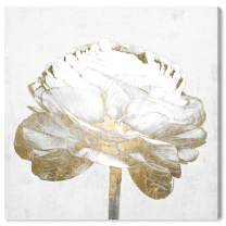 """The Oliver Gal Artist Co. Fashion and Glam Wall Art Canvas Prints Love Peony Home Décor, 12"""" x 12"""", Gold, White"""