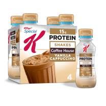 Special K Protein Shakes, Café Inspired, Vanilla Cappuccino, Gluten Free, 10 fl oz Bottles (4 Count)