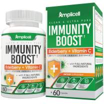 Immunity Boost - Daily Multi-System Immune Defense Elderberry Capsule - 60ct Elderberry Pills for Adults - Complete Immune Support Vitamin C with Zinc Supplement - Probiotic Formula with Zinc Vitamin