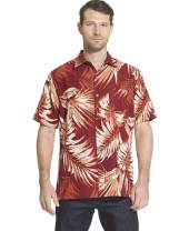 Van Heusen Men's Big and Tall Air Tropical Short Sleeve Button Down Poly Rayon Shirt
