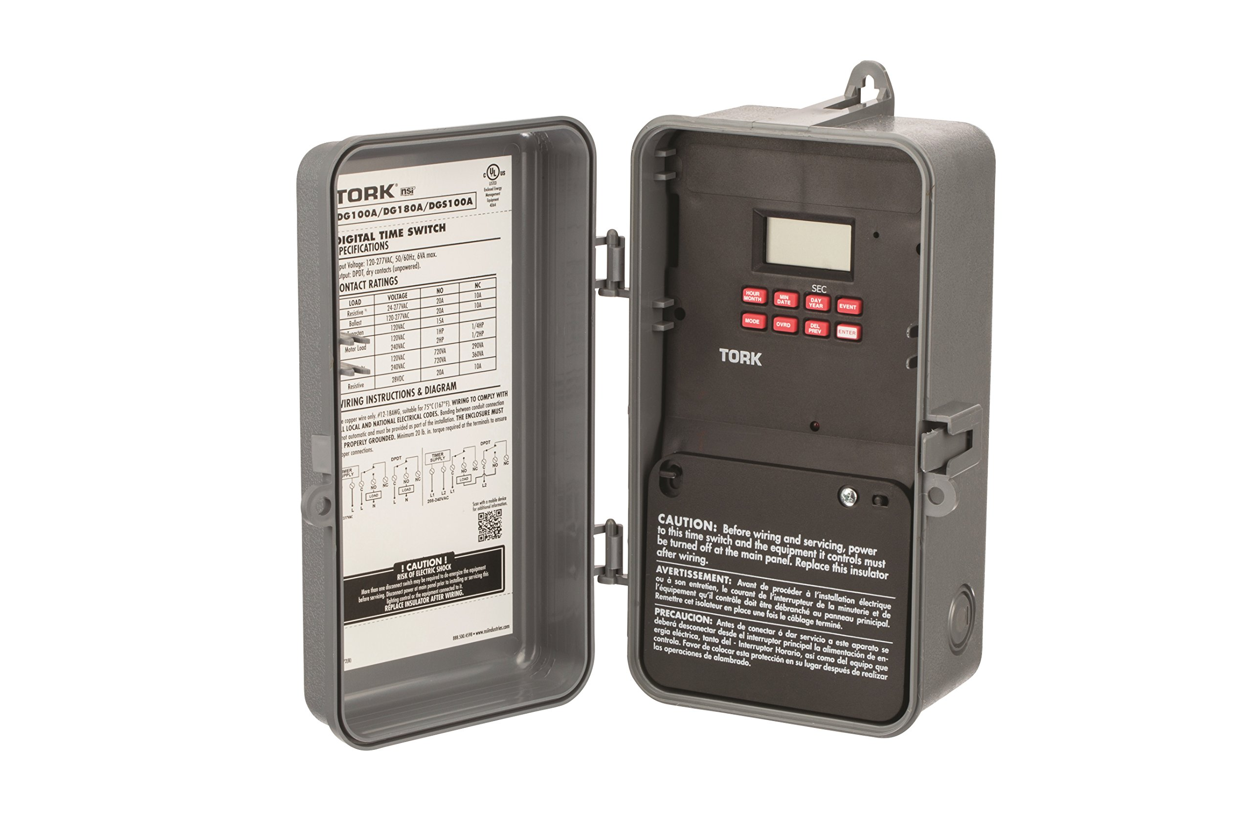 DG100 Series Multipurpose Control 365/7 Day Time Switch, 120-277 VAC Input Supply, 1 Channel, DPDT Output Contact