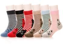 Eocom 6 Pairs Children's Winter Warm Wool Animal Crew Socks Kids Boys Girls Socks