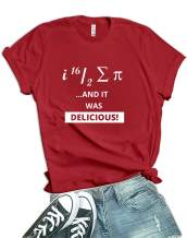 Pi Delicious Shirt Womens - Math Geek Teacher Funny T Shirts for Women