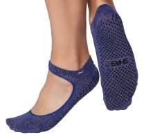Shashi Sweet Women's Open Top Mary Jane Grip Socks Pilates Barre Yoga Non-Slip Socks Regular Toe