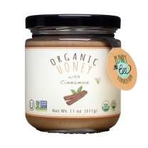 GREENBOW Organic Honey with Cinnamon - 100% USDA Certified Organic, Gluten Free, Non-GMO Organic Cinnamon Honey - Highest Quality Whole Food Organic Cinnamon Honey – 11oz (311g)
