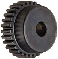"""Martin S1664 Spur Gear, 14.5° Pressure Angle, High Carbon Steel, Inch, 16 Pitch, 5/8"""" Bore, 4.125"""" OD, 0.500"""" Face Width, 64 Teeth"""