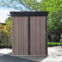 DOIT 5'x2.8'x6' Outdoor Garden Metal Storage Shed Heavy Duty for Backyards and Patios,Storage Shed with Sloped Roof