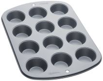 Wilton Recipe Right 12 Cup Mini Muffin Pan, Gray