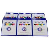 Color Swell Washable Markers 6 Boxes of 8 Vibrant Colors Perfect for Kids, Teachers, Adults, Parties, and Families