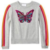 The Children's Place Girls' Big Graphic Flip Sequin Sweater