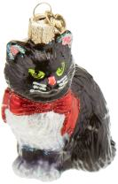 Old World Christmas Cat Lover Glass Blown Ornaments for Christmas Tree Tuxedo Kitty