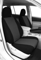 CalTrend Front Row Bucket Custom Fit Seat Cover for Select Toyota Tundra Models - DuraPlus (Charcoal Insert with Black Trim)