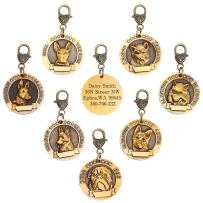 hipidog Dog Tags for Dogs Engraved- Personalized Puppy Tag Matching with 21 Breeds 3D Effect, Premium Copper Tag and Permanently Laser Engraved- Special Unique Tag