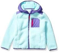 Amazon Brand - Spotted Zebra Girls Hooded Sherpa Fleece Jacket