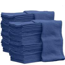 Auto-Mechanic Shop towels, Rags by Nabob Wipers 100% Cotton Commercial Grade Perfect for your Home,Garage & Auto 12x12 inches, 100 Pack (Blue)