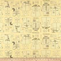 Riley Blake Designs Paperdoll Clothes Fabric, Yellow, Fabric By The Yard