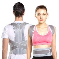 Comfortable Back Brace Posture Corrector for Men and Women Adjustable Support Brace (Waist 27.6-31.5 in)