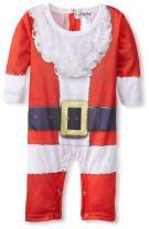 Faux Real Baby Santa Suit Romper