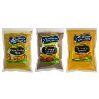 Premium Curry Powder - Ground Cumin (Geera) - Ground Tumeric Powder - 3-PACK COMBO (3 x 7 Oz)(3x200g)