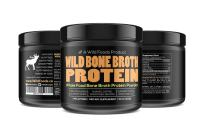 Bone Broth Protein Powder by Wild Foods | Non-GMO, Paleo, All-Natural, Unflavored, Grass-Fed Bovine Sourced (1 Pound)