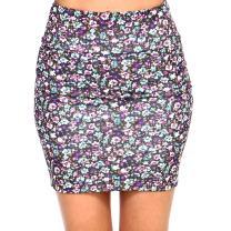 Fashionazzle Women's Casual Stretchy Bodycon Pencil Mini Skirt (Small, KS06-#17 Olive)