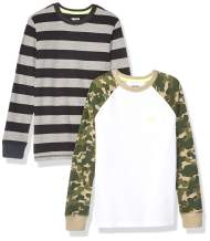 Amazon Brand - Spotted Zebra Boy's Toddler & Kid's 2-Pack Long-Sleeve Thermal Tops