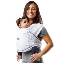 Baby K'tan Active Baby Wrap Carrier, Infant and Child Sling - Simple Wrap Holder for Babywearing - No Rings or Buckles - Carry Newborn up to 35 Pound, White, X-Large (Women 22-24 / Men 47-52)