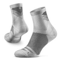 Rockay Razer Trail Running Socks for Men and Women, Cushion, Crew Cut, Arch Support, 100% Recycled, Anti-Odor (1 Pair)