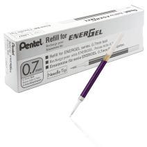 Pentel Refill Ink for EnerGel 0.7mm Needle Tip Liquid Gel Pen, Pack of 12, Violet Ink (LRN7-V-12)