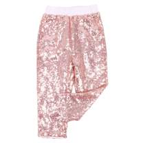 Cilucu Leggings for Baby Girls Toddler Sequin Rainbow Pants Kids Birthday Clothes Sparkle on Both Sides