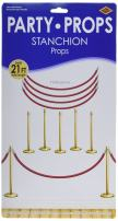 "Beistle 52301 Printed Stanchion Party Props, 34.5"" and 5' 1"", 9 Pieces In Package"