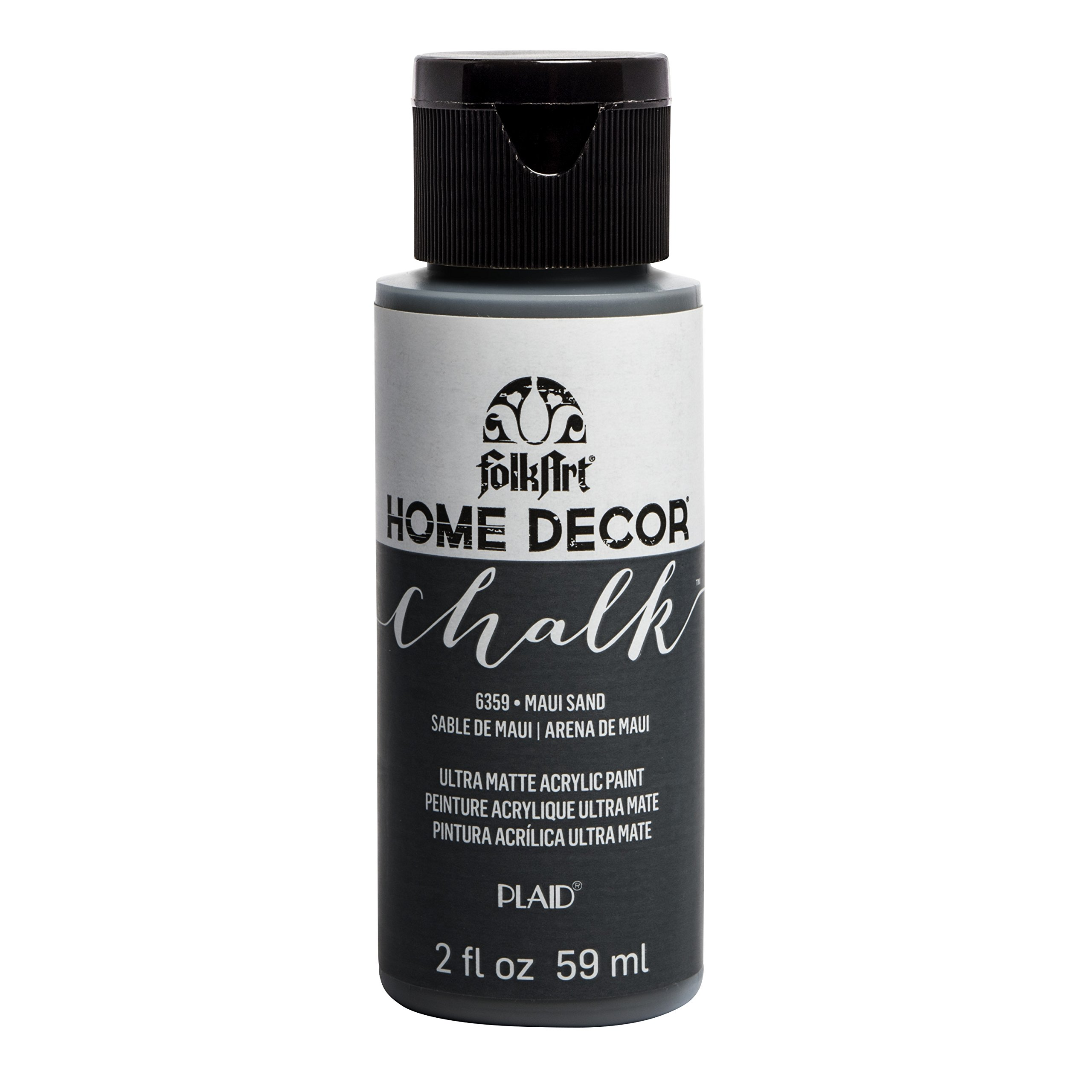 FolkArt 6359 Home Décor Chalk Furniture & Craft Paint in Assorted Colors, 2oz, Maui Sand