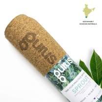 Gurus Natural Cork Yoga Mat with TPE Latex-Free Bottom, Sprout Eco Friendly Yoga Mat, Non Slip Yoga Cork Mat, 72x25 Inches