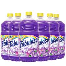 FABULOSO All Purpose Cleaner, Lavender, Bathroom Cleaner, Toilet Cleaner, Floor Cleaner, Shower and Glass Cleaner, Mop Cleanser, Kitchen Pots and Pans Degreaser, 56 Fluid Ounce (Pack of 6) (153041)
