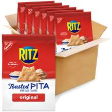 Ritz Toasted Pita Chips, Original, 8 Ounce (Pack of 6)