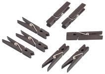 Darice Black, 1 7/8 inch Clothespins Medium Size Clothepins, 30 Piece