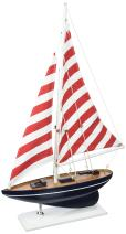 "Hampton Nautical sailboat17-105 Wooden Nautical Delight sailboat17-105 Sailboat 17"" - Sailboat Decoration - Nautical Decor - Sailing Ship sailboat17-105"